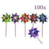 JZK 100 Impermeable Foil Molinos de Viento Juguetes para los niños la Fiesta de cumpleaños favorece obsequios Gracias Regalo Relleno de Bolsas de Fiesta