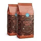 Marca Amazon - Happy Belly Café de tueste natural en grano 'Espresso Forte' (2 x 500g)
